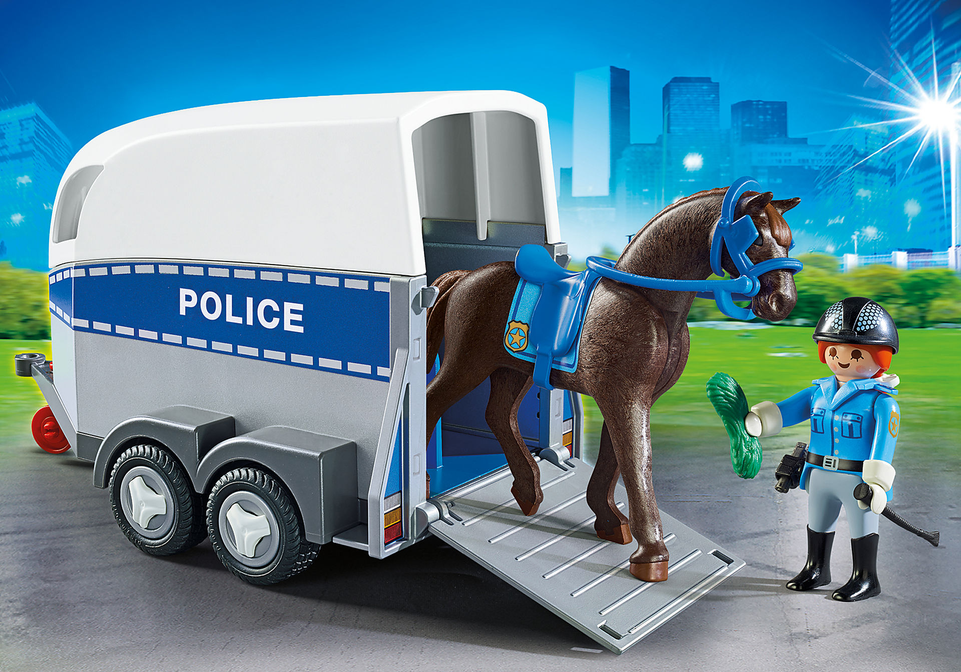 6922 Police with Horse and Trailer zoom image1