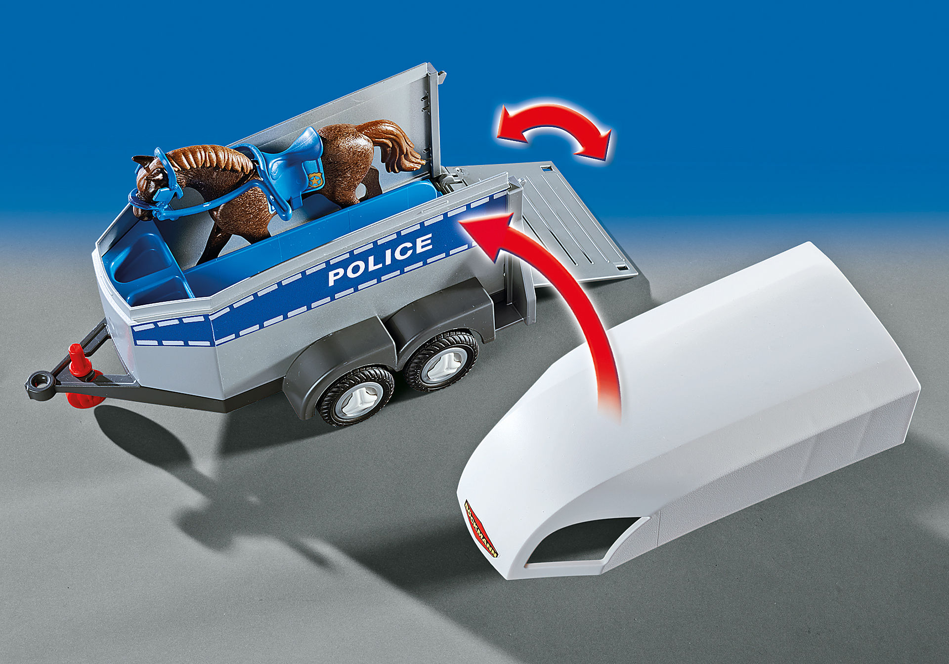 6922 Policière avec cheval et remorque zoom image5