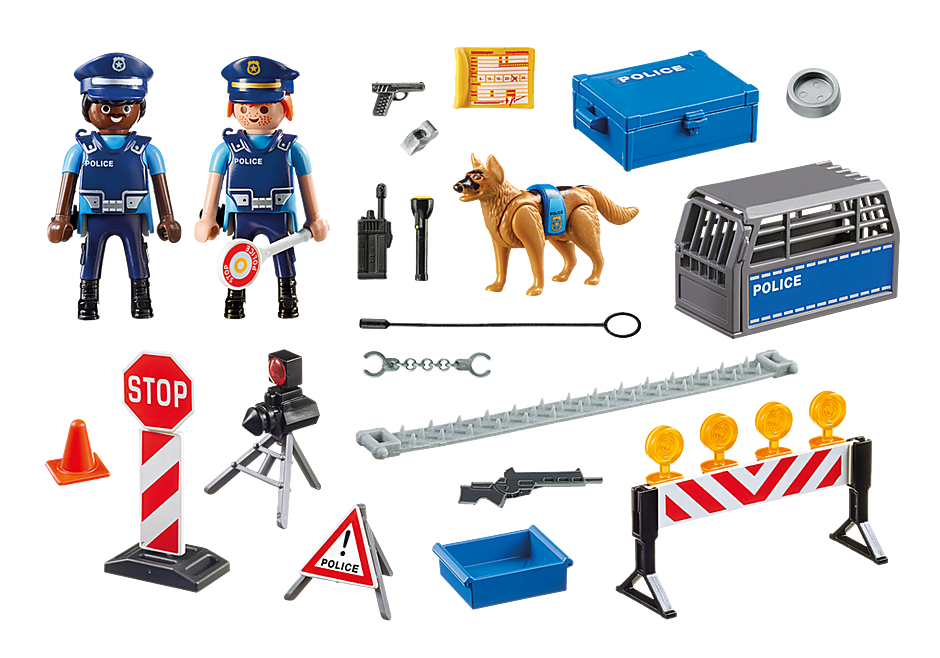 http://media.playmobil.com/i/playmobil/6924_product_box_back/Posto di blocco della Polizia