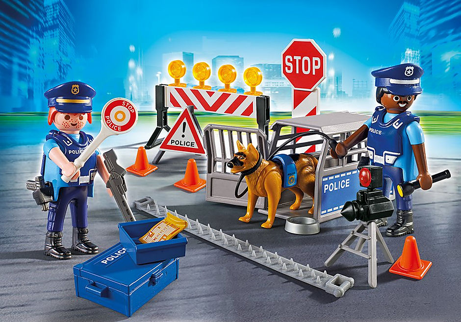 6924 Police Roadblock detail image 1