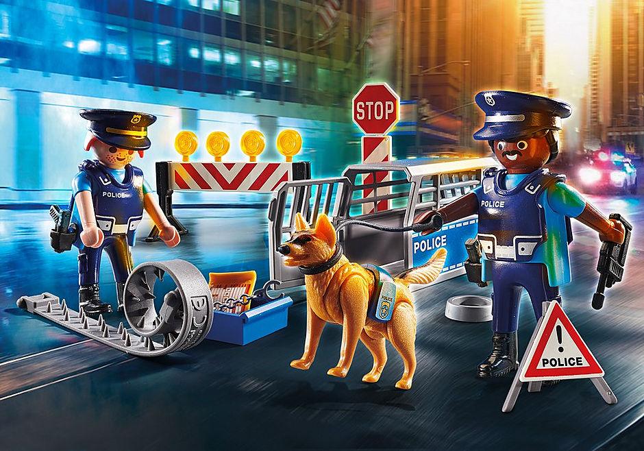6924 Politie wegversperring detail image 1