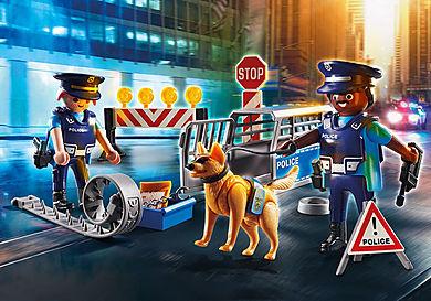 6924 Politie wegversperring