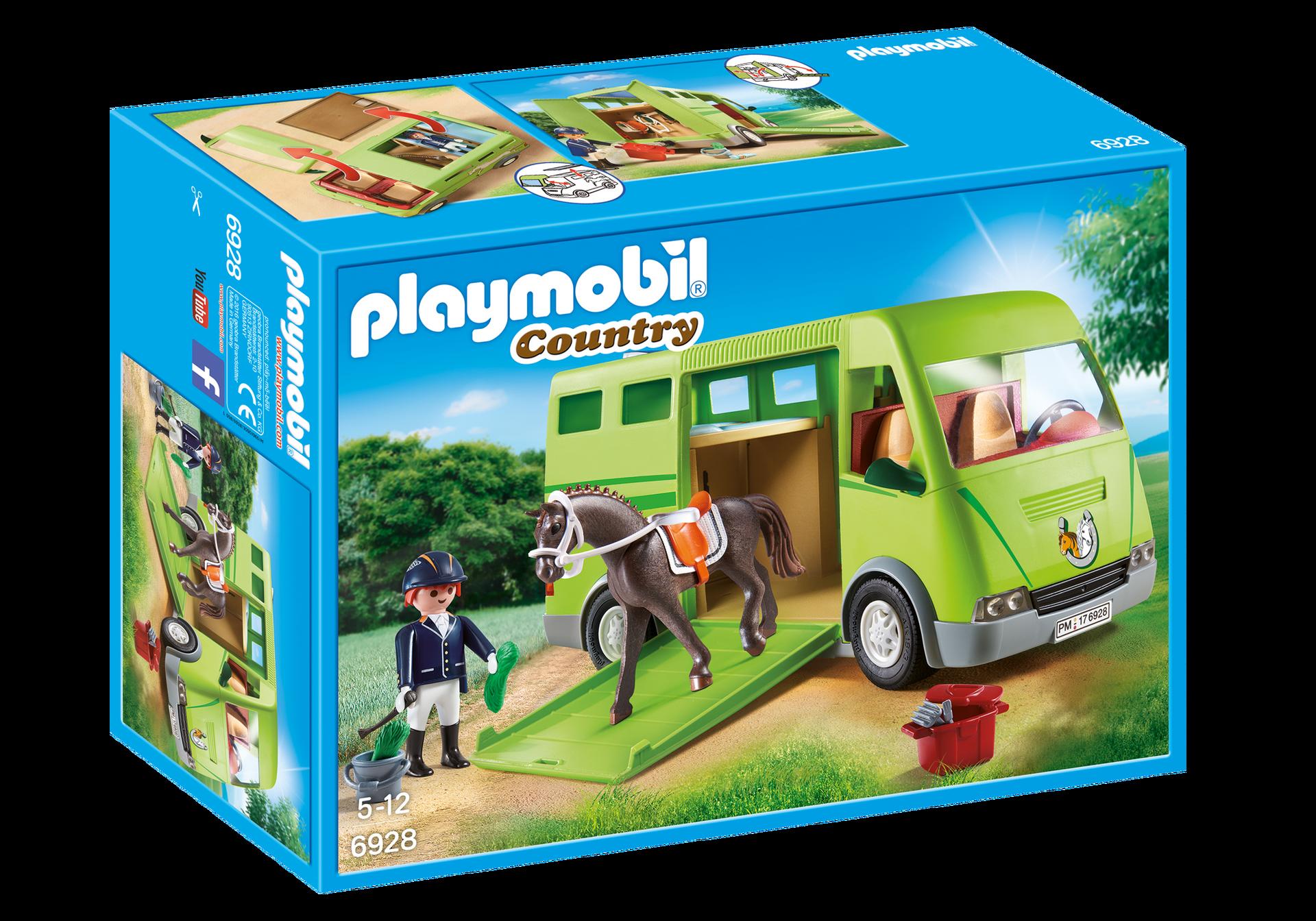 Horse transporter 6928 playmobil - Pferde playmobil ...