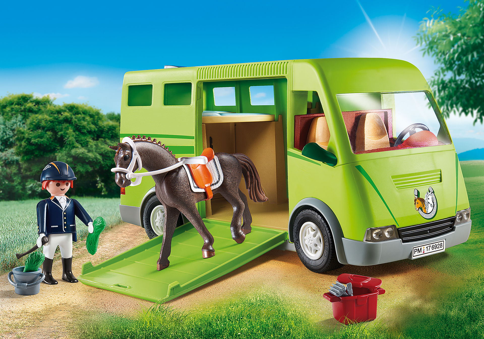 6928 Cavalier avec van et cheval  zoom image1