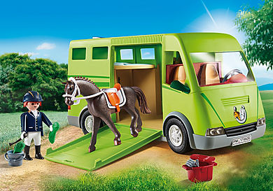 6928 Cavalier avec van et cheval