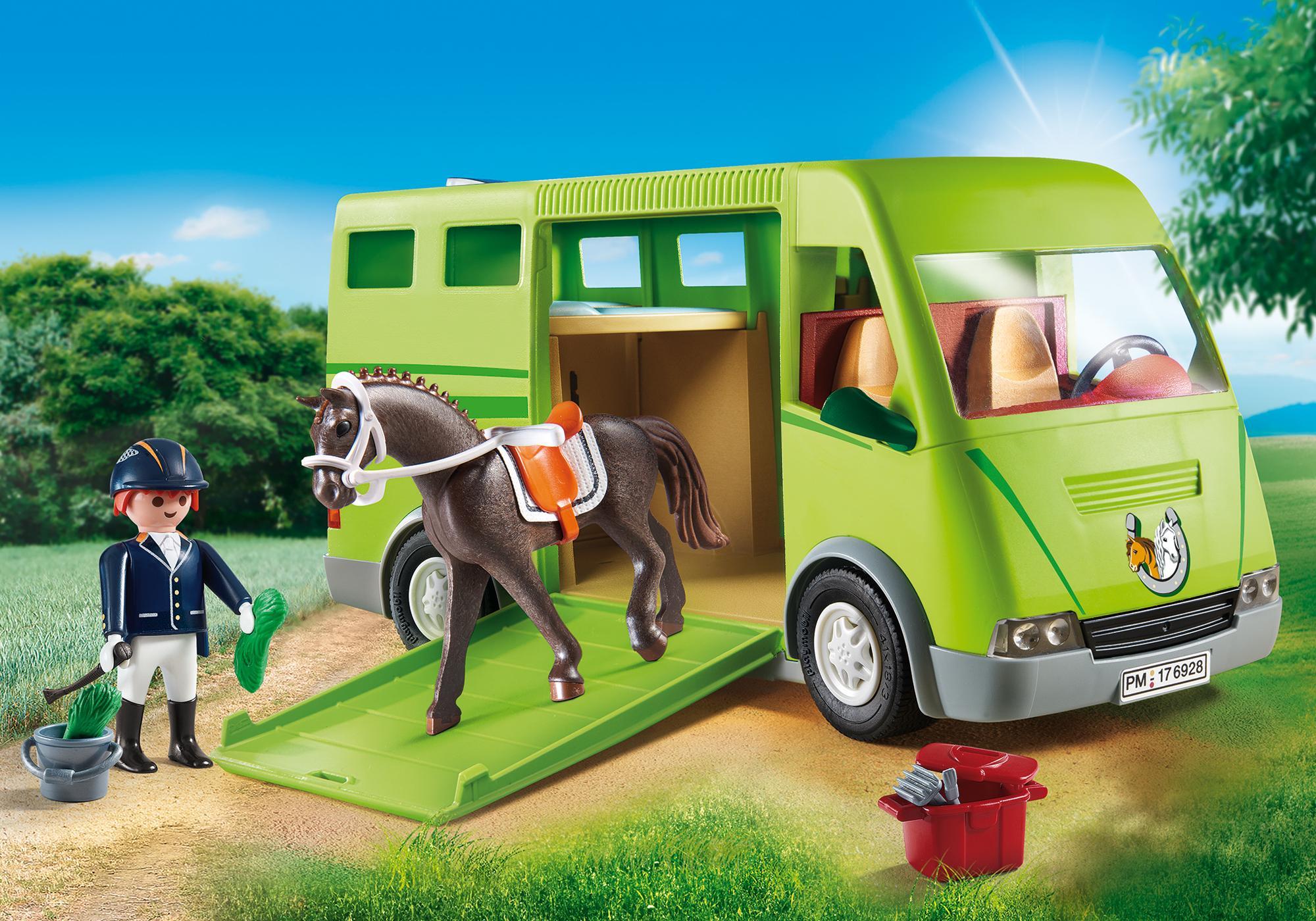 6928_product_detail/Cavalier avec van et cheval