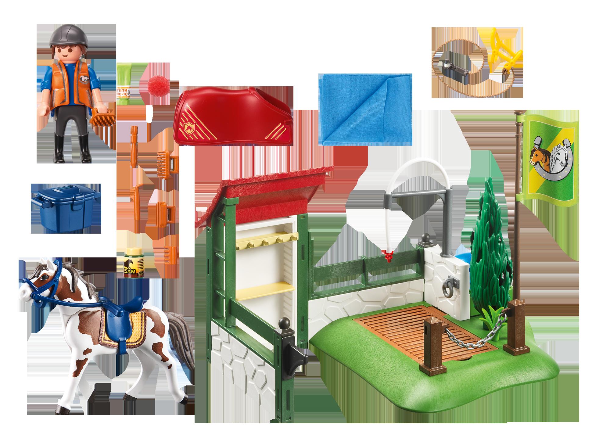 http://media.playmobil.com/i/playmobil/6929_product_box_back/Box de lavage pour chevaux