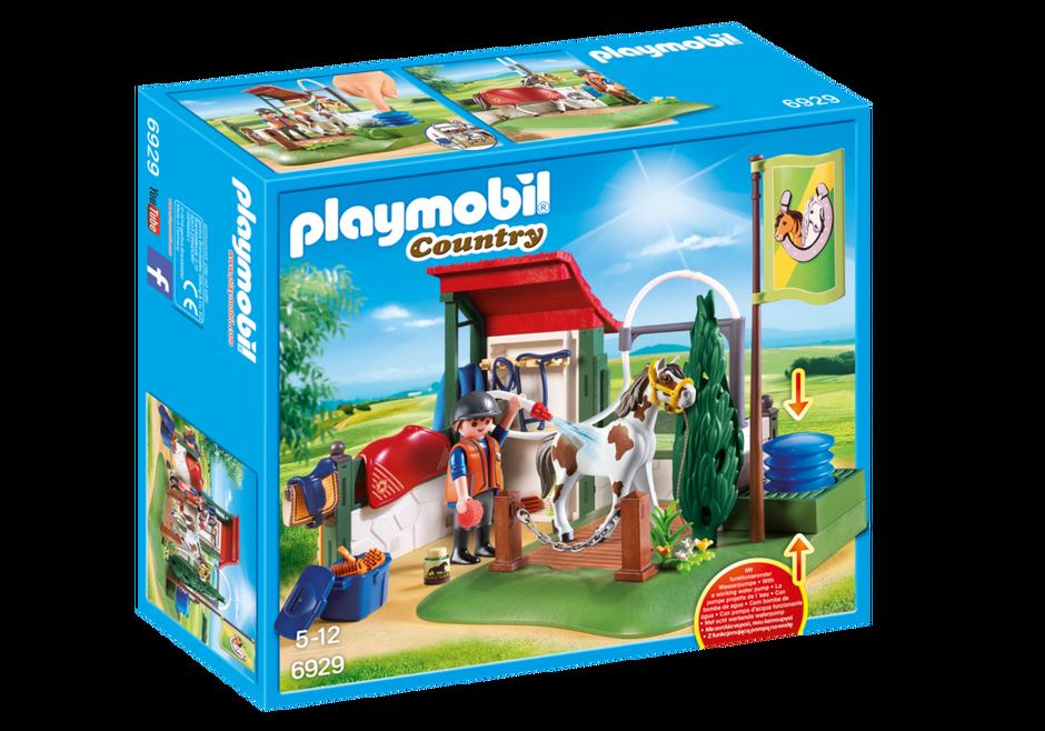 Box de lavage pour chevaux 6929 playmobil belgi - Douche pour chevaux playmobil ...