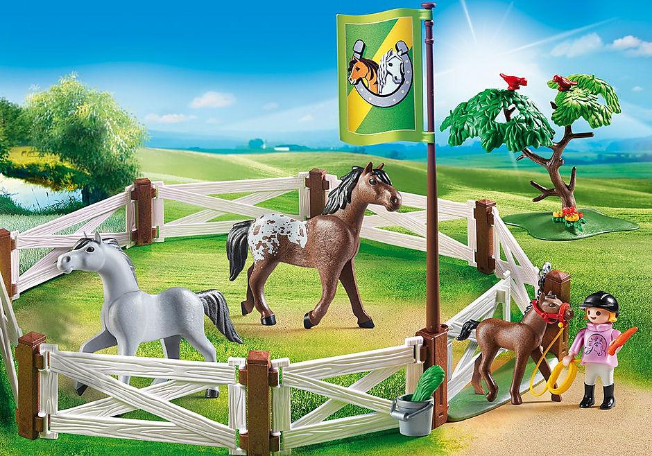 6931 Enclos avec chevaux  detail image 1
