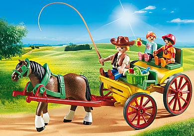 6932 Carruagem com Cavalo