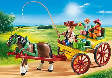 6932 Horse-Drawn Wagon