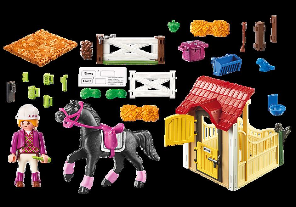 6934 Box avec cavalière et pur-sang Arabe  detail image 4