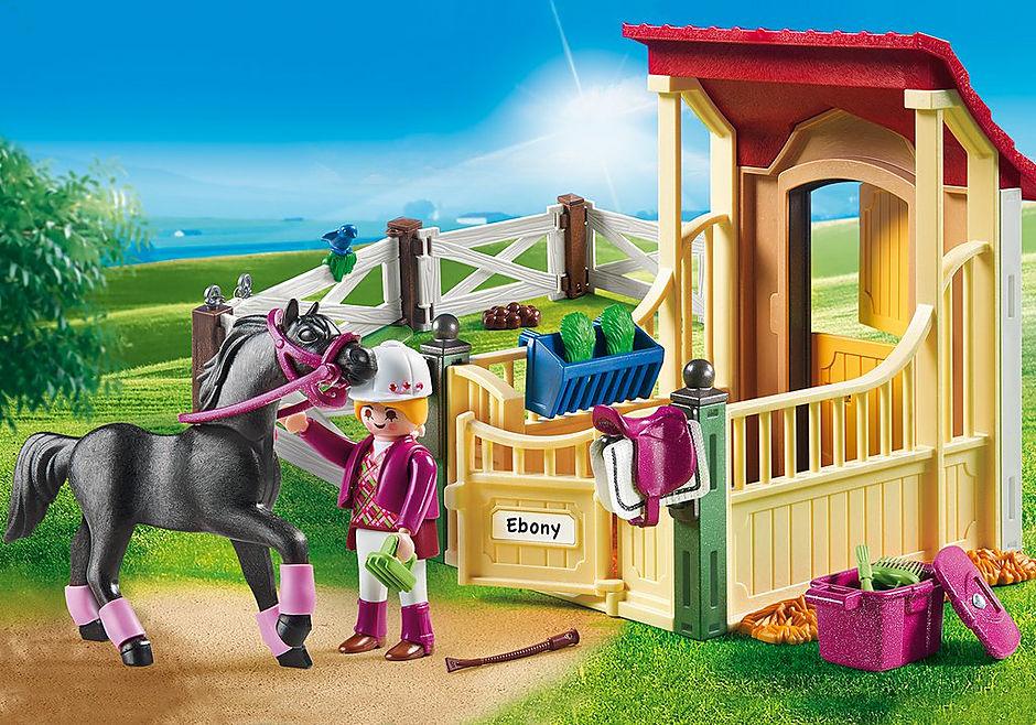 6934 Cavalo Árabe com Estábulo detail image 1