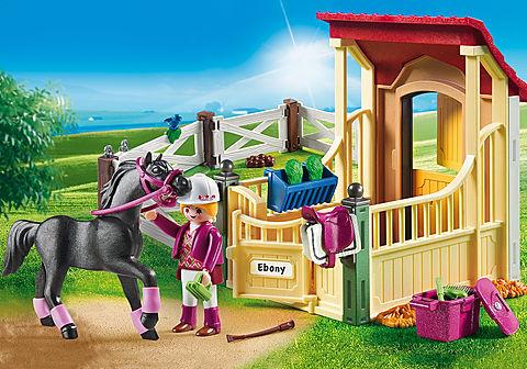 6934 Cavalo Árabe com Estábulo