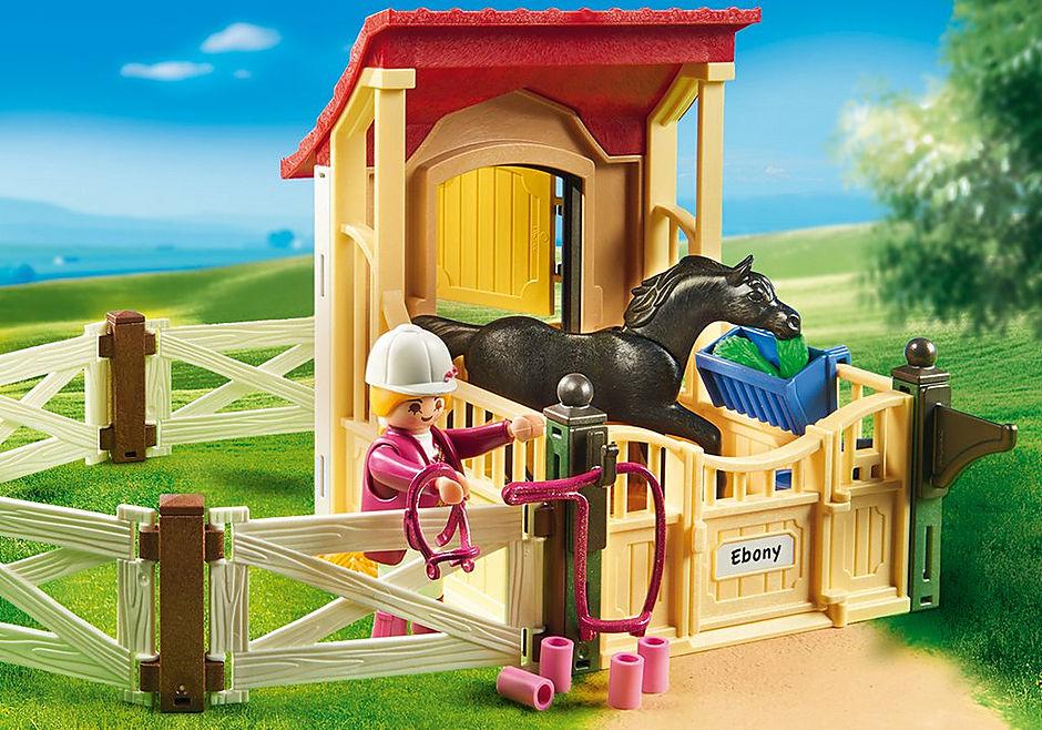 6934 Cavalo Árabe com Estábulo detail image 6