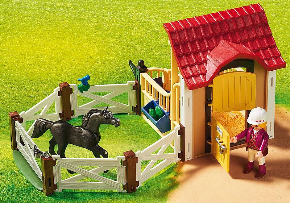 6934 Box avec cavalière et pur-sang Arabe  detail image 7