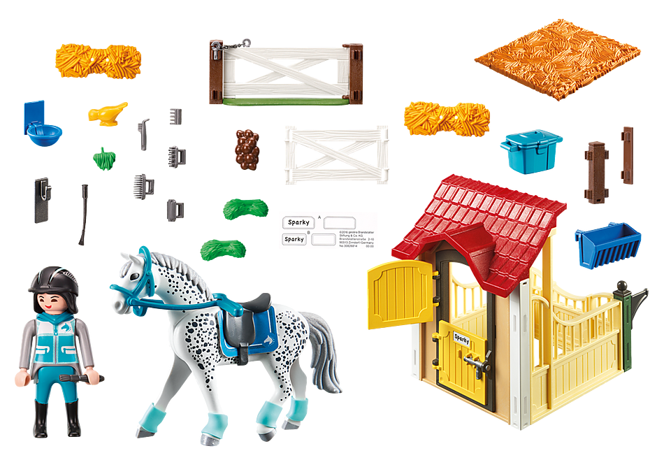 6935 Horse Stable with Appaloosa detail image 4