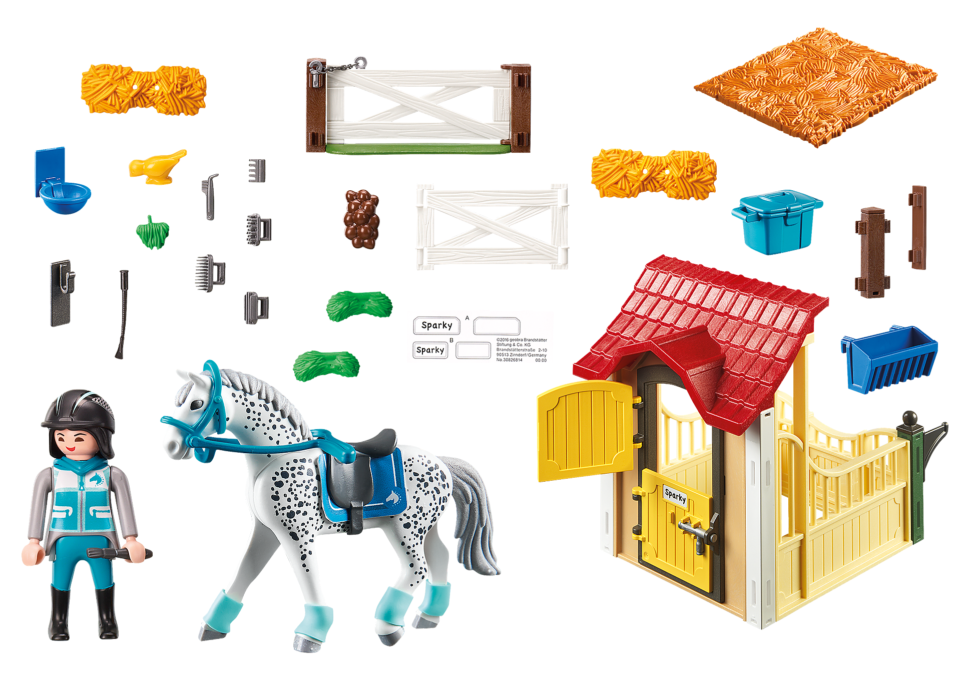 6935 Horse Stable with Appaloosa zoom image4