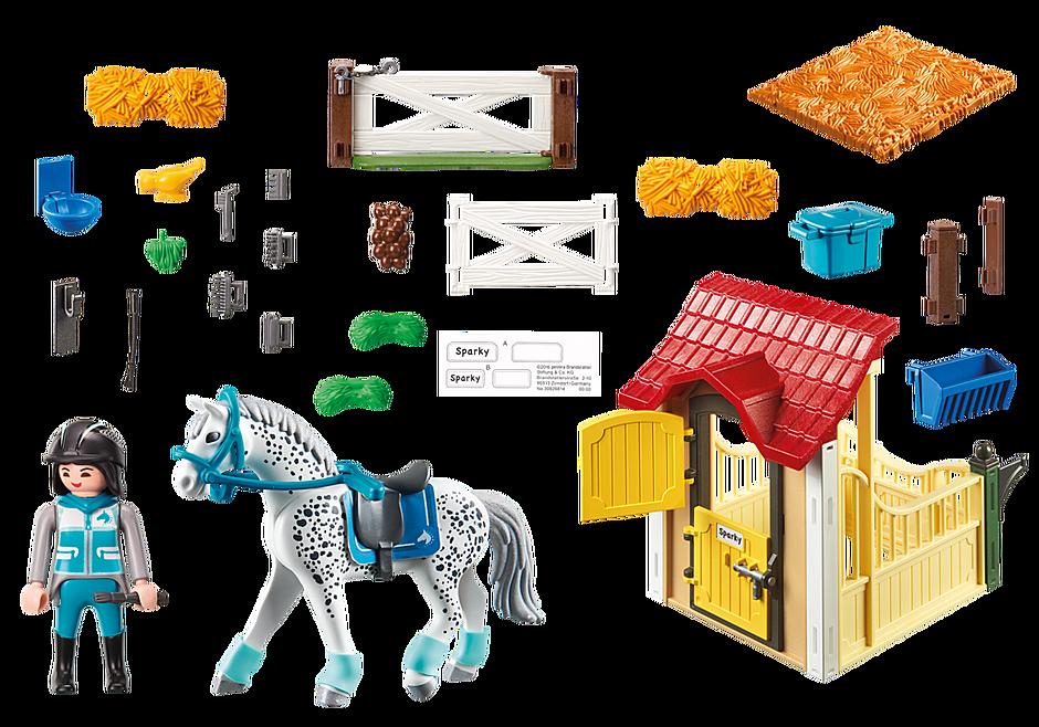 6935 Stalla con cavallo Appaloosa detail image 4