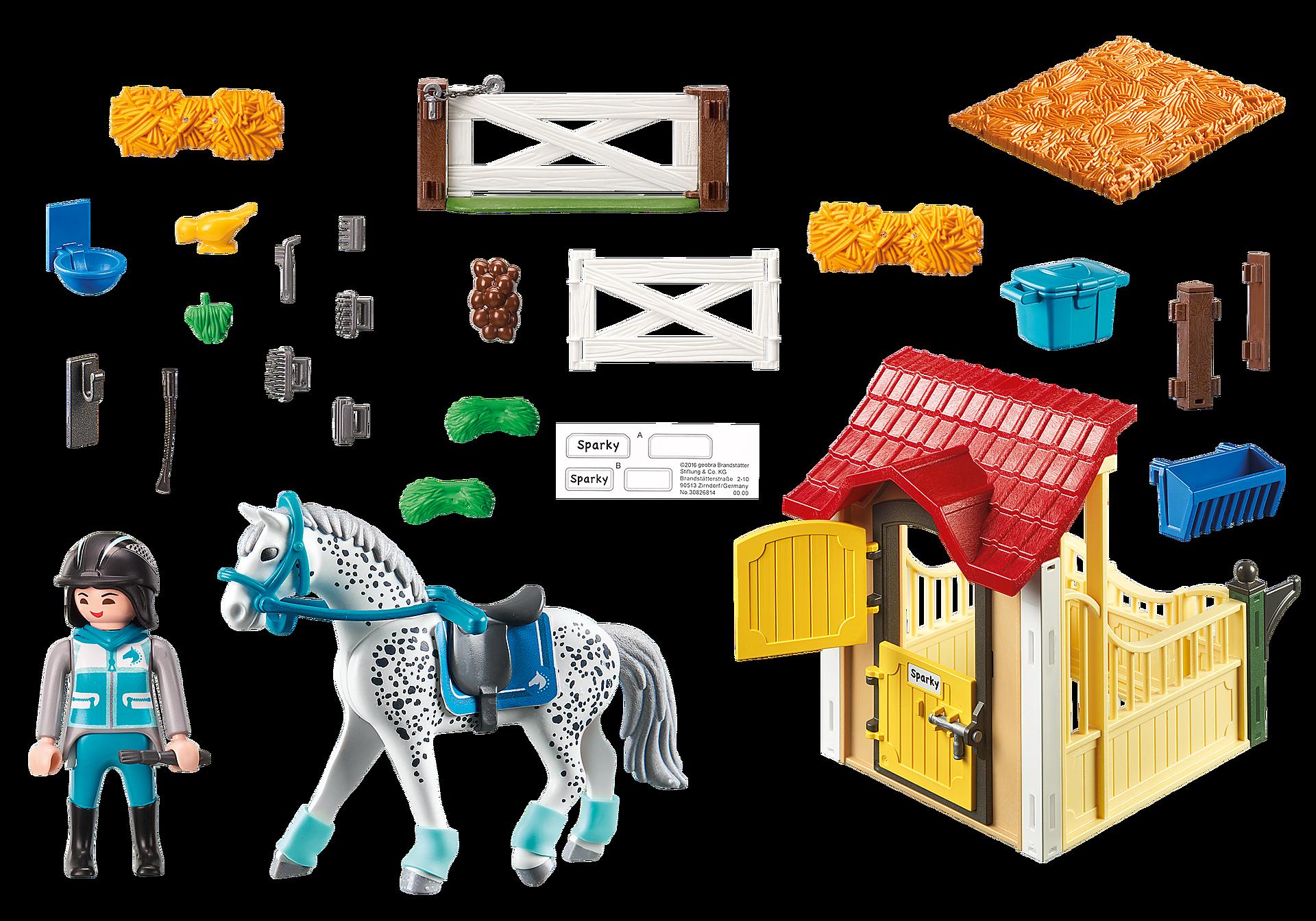 6935 Stalla con cavallo Appaloosa zoom image4