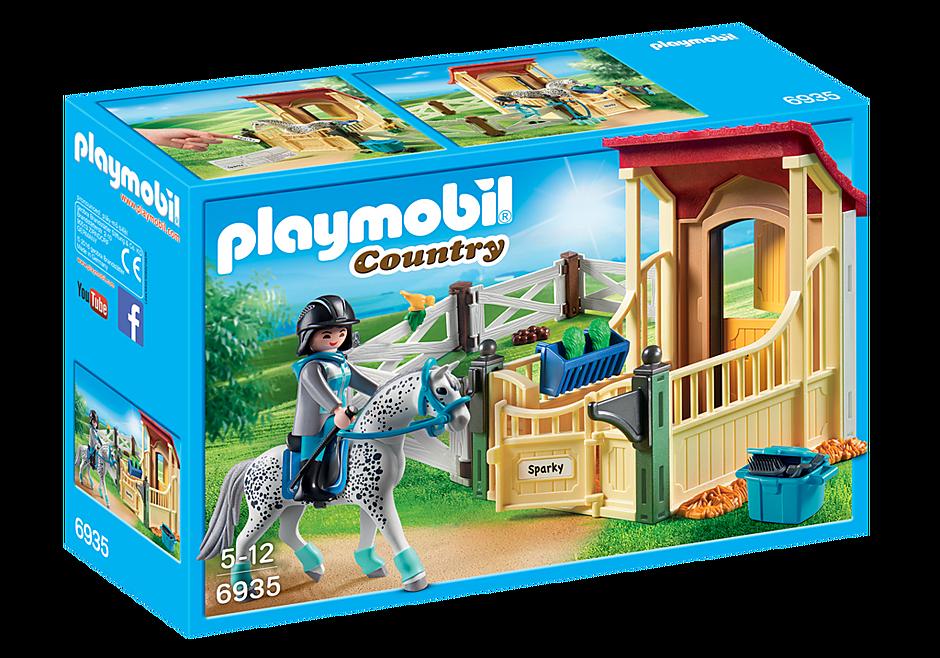 6935 Box avec cavalière et cheval Appaloosa detail image 3