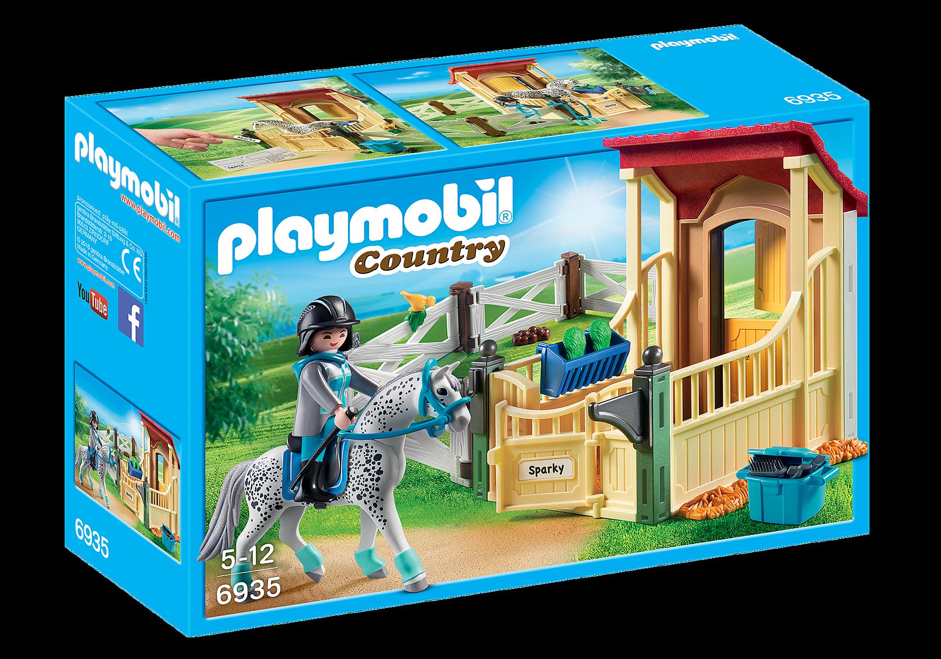6935 Box avec cavalière et cheval Appaloosa zoom image3