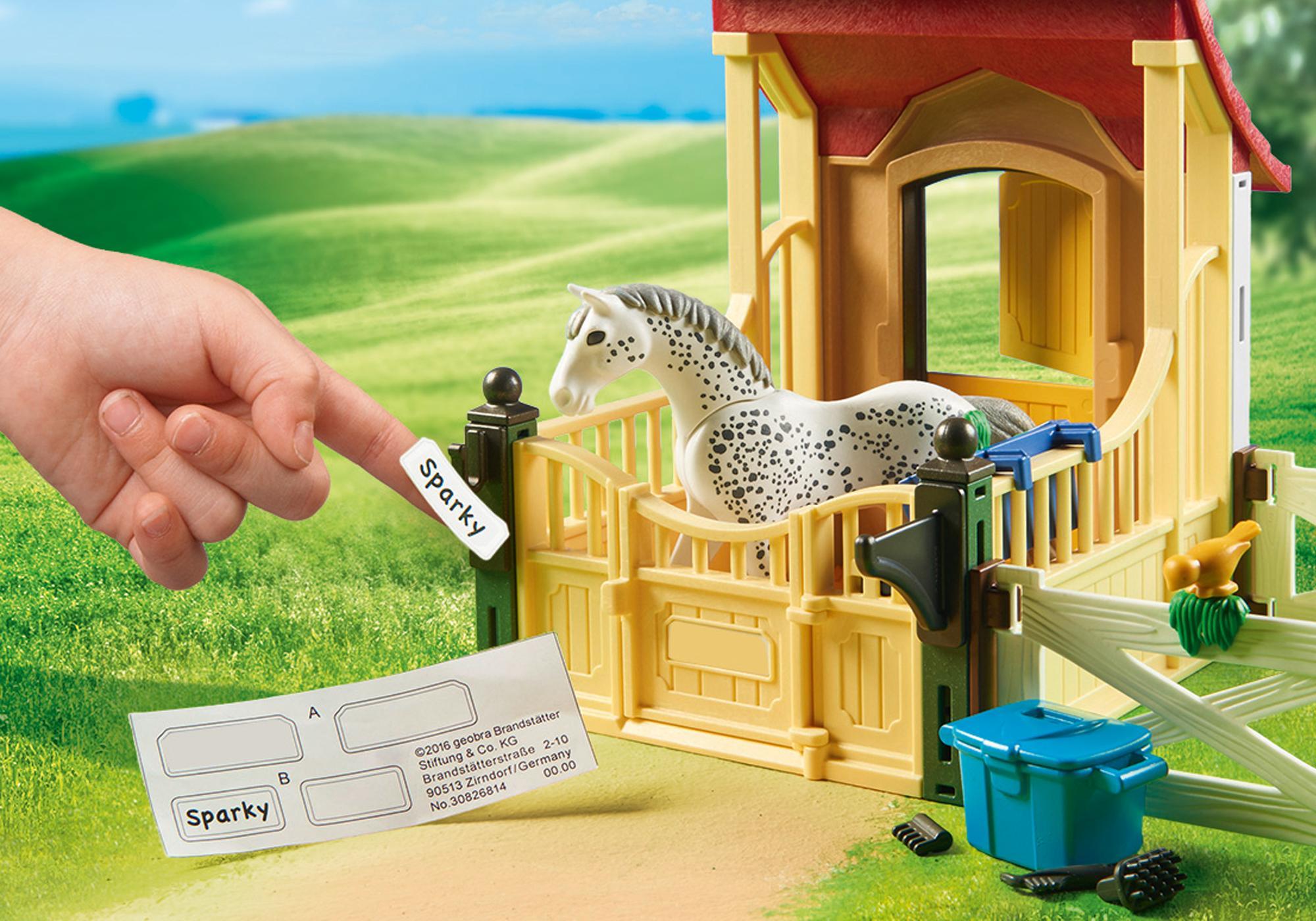 """http://media.playmobil.com/i/playmobil/6935_product_extra1/Boks stajenny """"Appaloosa"""""""