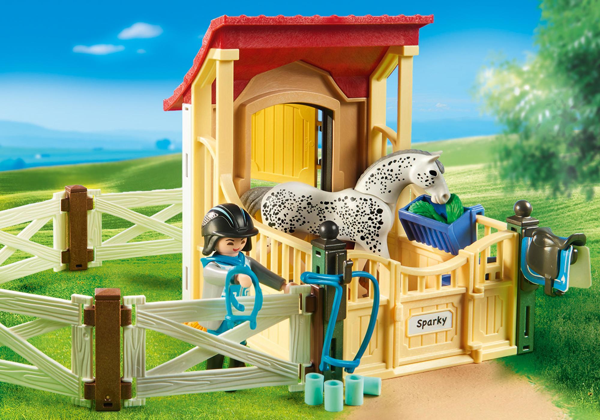 """http://media.playmobil.com/i/playmobil/6935_product_extra2/Boks stajenny """"Appaloosa"""""""