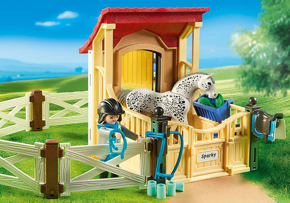 6935 Horse Stable with Appaloosa detail image 6