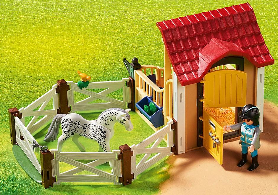 6935 Box avec cavalière et cheval Appaloosa detail image 7