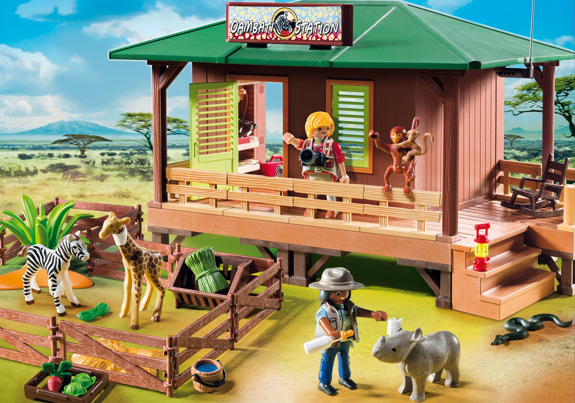 6936_product_detail/Ranger Station with Animal Area