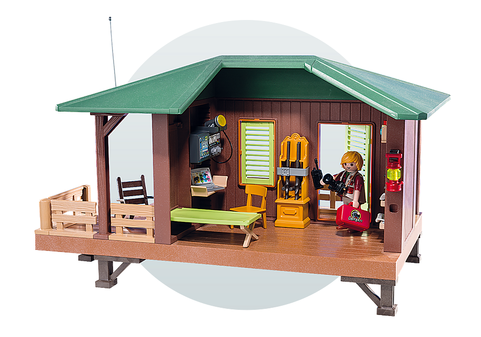 http://media.playmobil.com/i/playmobil/6936_product_extra5/Ranger Station with Animal Area