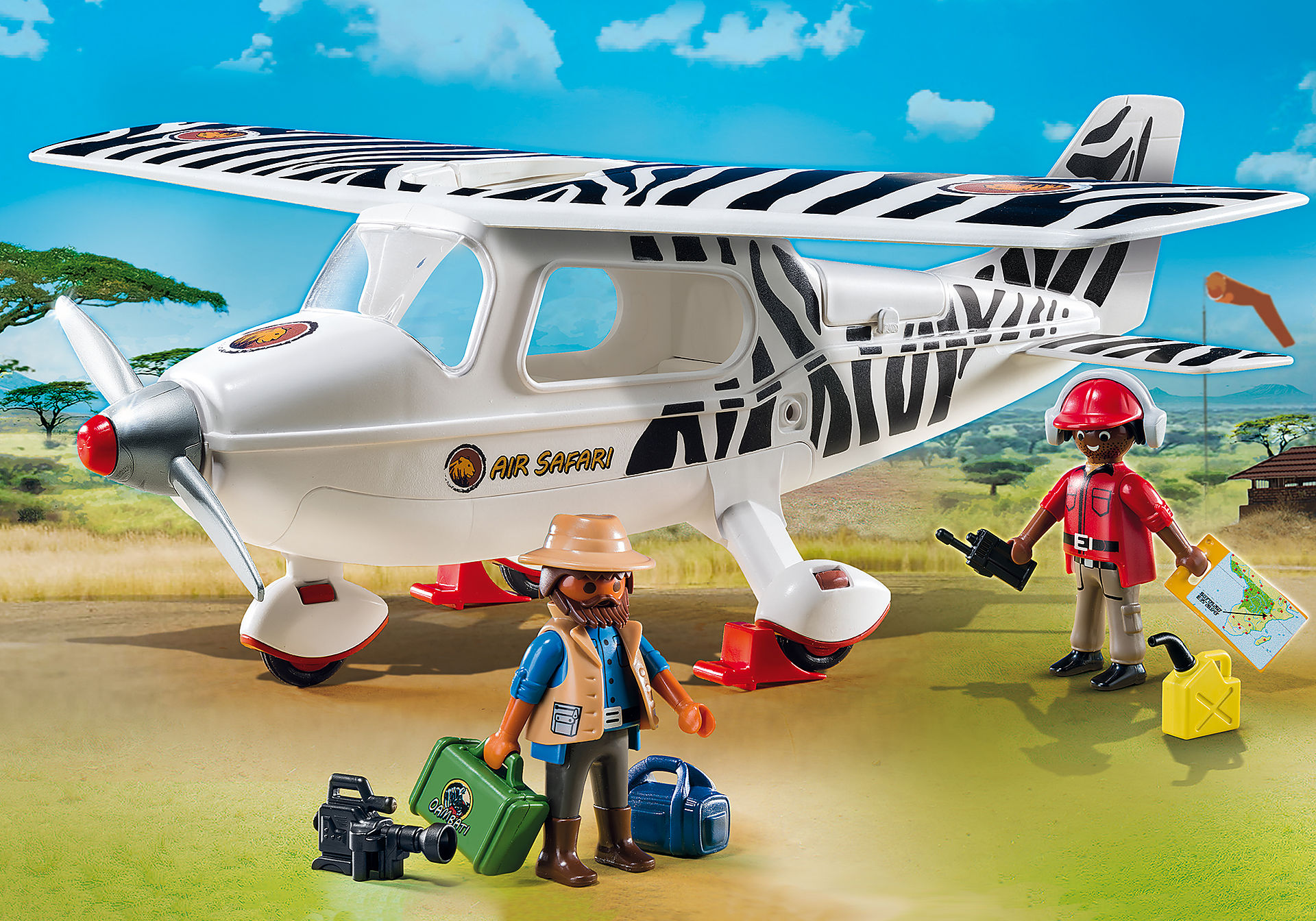6938 Avion avec explorateurs  zoom image1