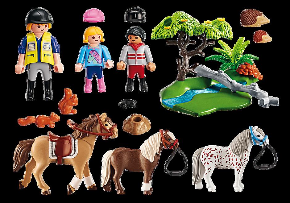 6947 Cavaliers avec poneys et cheval  detail image 4