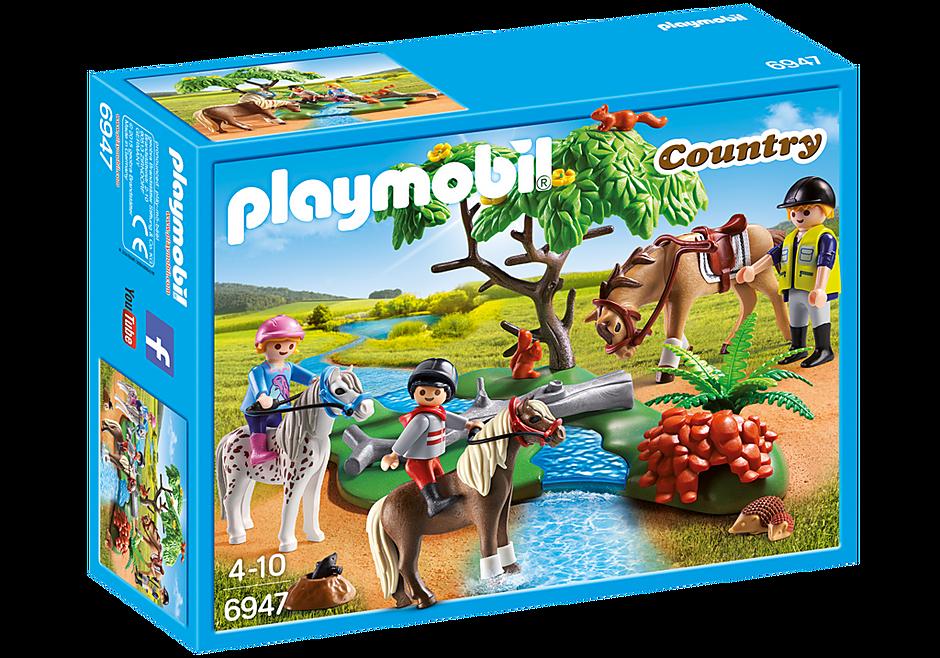 6947 Cavaliers avec poneys et cheval  detail image 3
