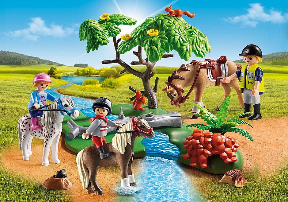 6947 Cavaliers avec poneys et cheval  detail image 1