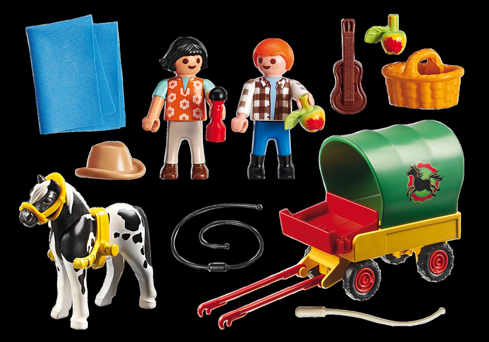 6948 Enfants avec chariot et poney  zoom image4