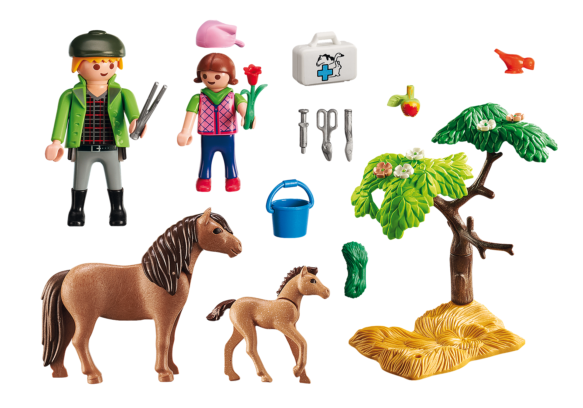 http://media.playmobil.com/i/playmobil/6949_product_box_back/Κτηνίατρος με πόνυ και πουλάρι