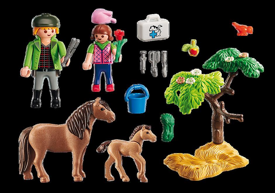 http://media.playmobil.com/i/playmobil/6949_product_box_back/Vétérinaire avec enfant et poneys