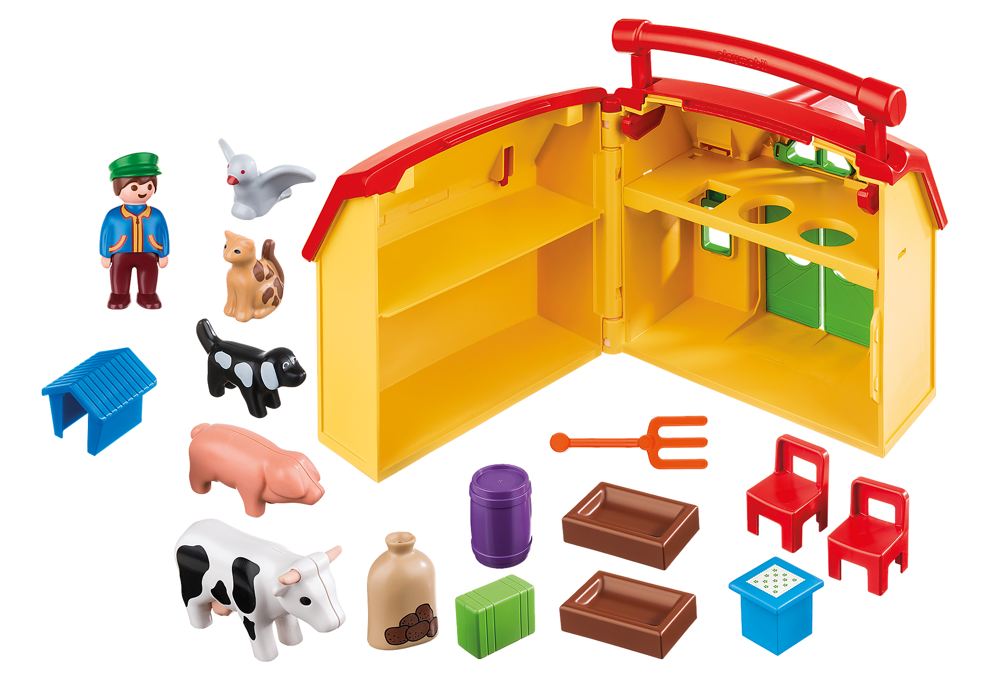 6962 Ferme transportable avec animaux  zoom image4