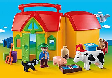 6962 Ferme transportable avec animaux