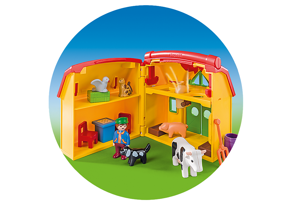 http://media.playmobil.com/i/playmobil/6962_product_extra3/Ferme transportable avec animaux