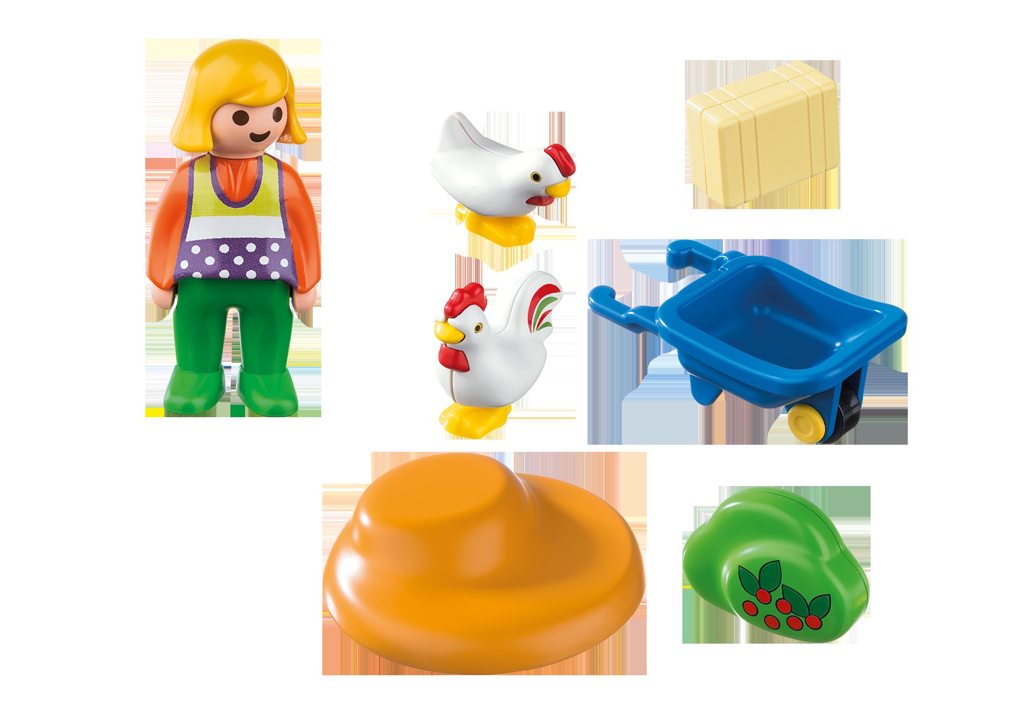 http://media.playmobil.com/i/playmobil/6965_product_box_back/1.2.3 Granjera con Gallinas