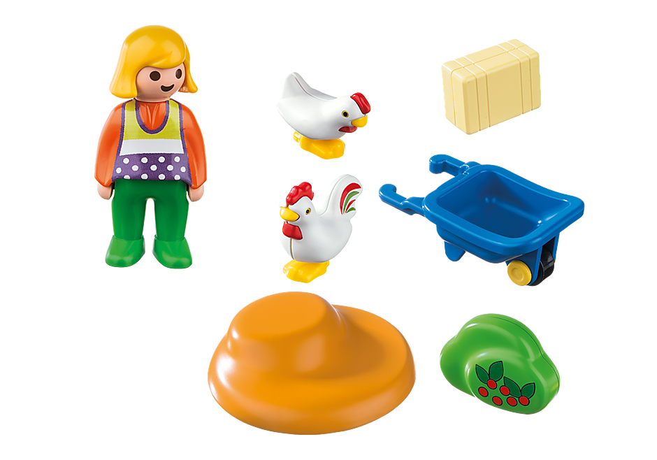 6965 Bäuerin mit Hühnern detail image 4