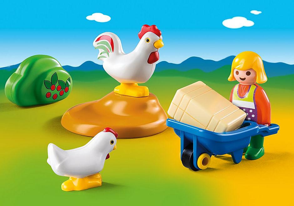 6965 Bäuerin mit Hühnern detail image 1