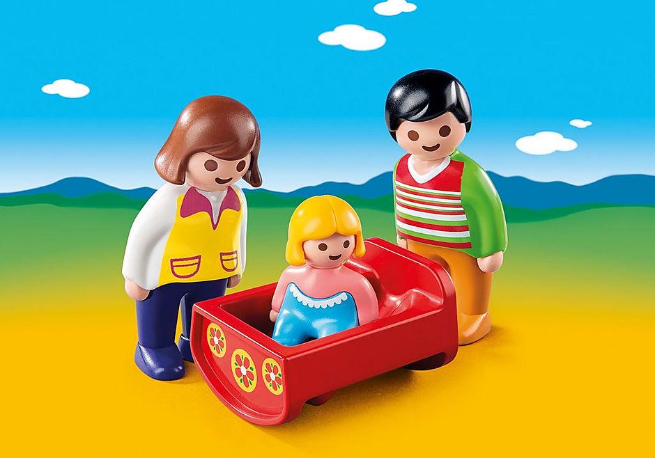 6966 Eltern mit Babywiege detail image 1