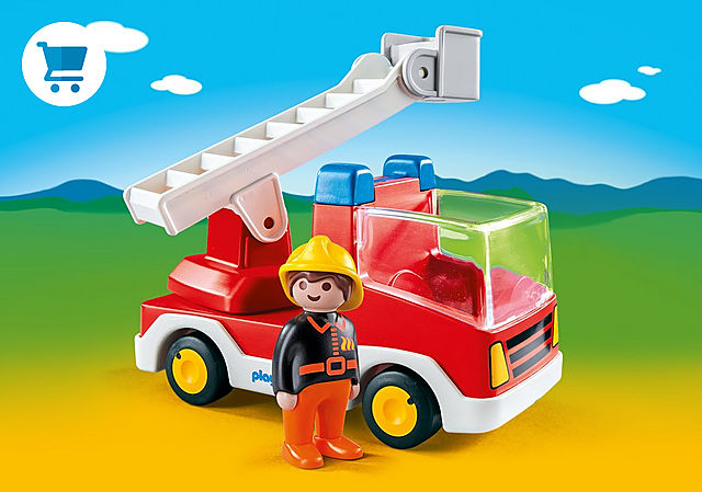 6967_product_detail/Brandweerwagen met ladder