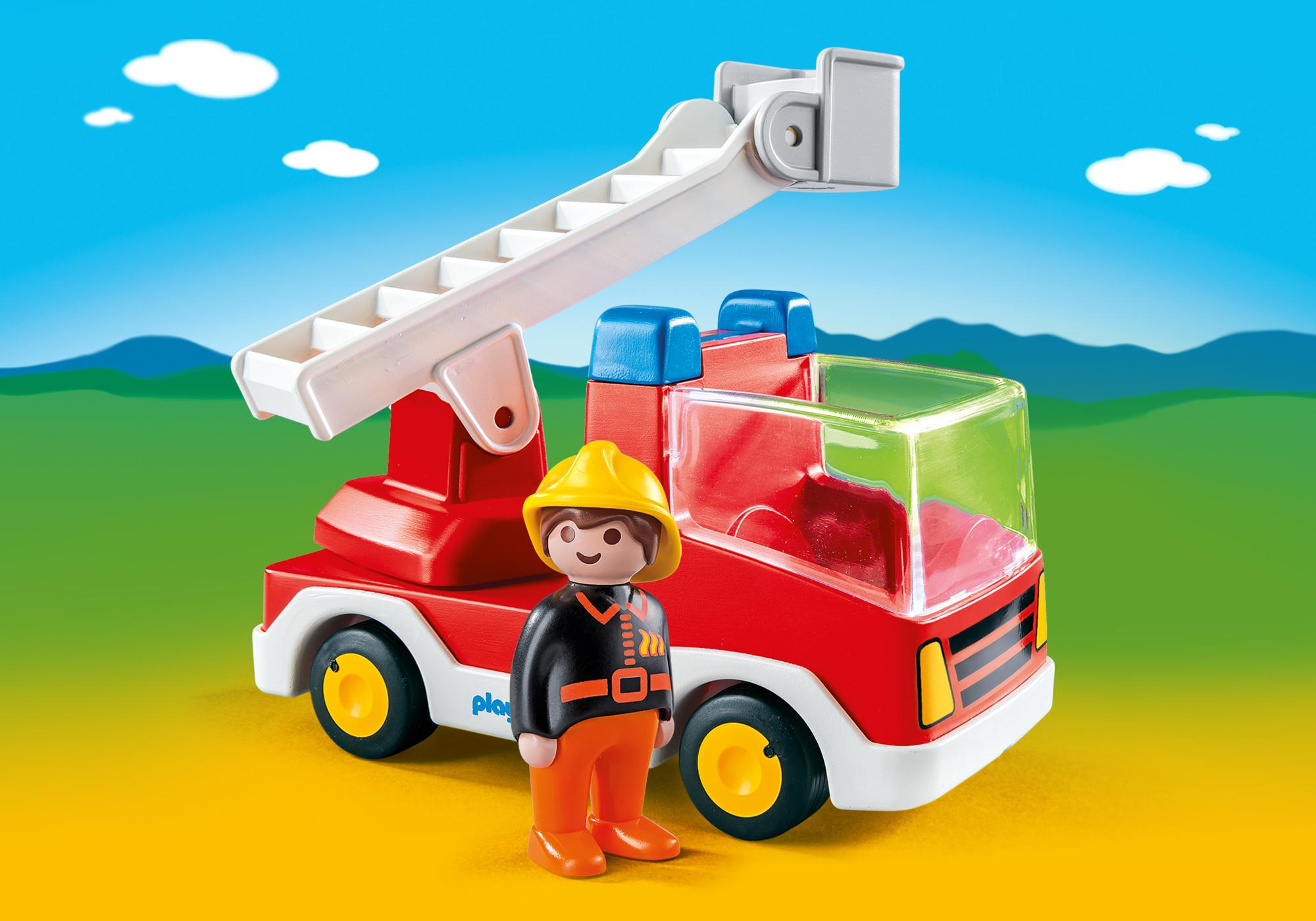 6967_product_detail/Camion de pompier avec échelle pivotante