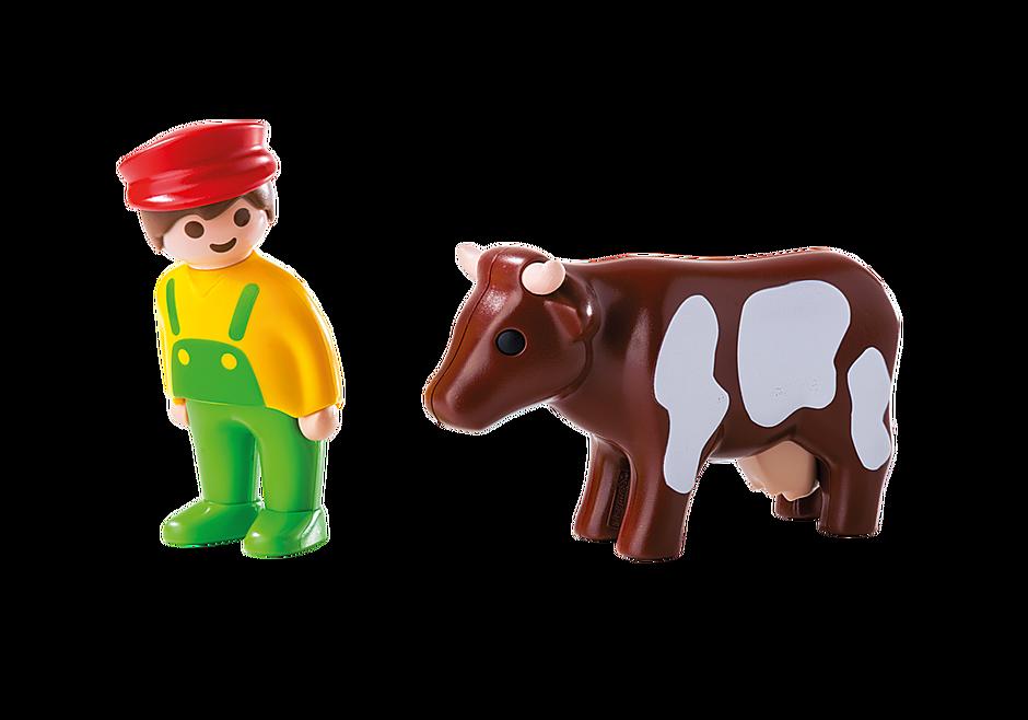 6972 Eleveur avec vache  detail image 3