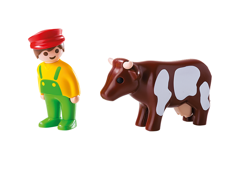 6972 Farmer with Cow detail image 3